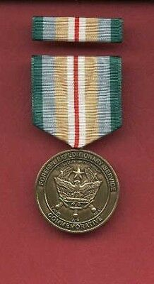 Foreign Expeditionary Service Commemorative Award medal with ribbon bar