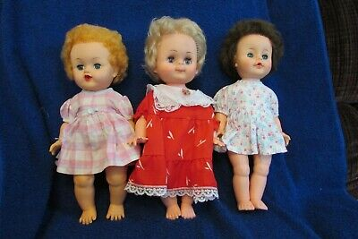Three Vintage Canadian Made Reliable Toy Company Dolls