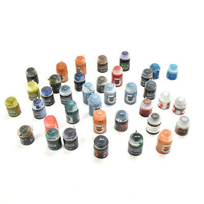 CITADEL PAINTS 37 Paints lots For miniatures all over 50% full or more
