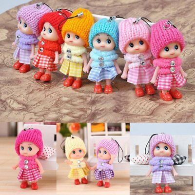 6Pcs Kids Toys Soft Interactive Baby Dolls Toy Mini Doll For Girls and Boys Gift