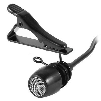 Cravatta Clip Lavalier Microfono Mic per Wireless Mike Sistema 3.4mm Mono Spina