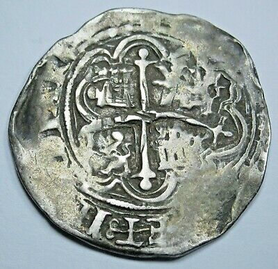 1500's Double Struck Spanish Silver 1 Reales Real Old Colonial Pirate Cob Coin