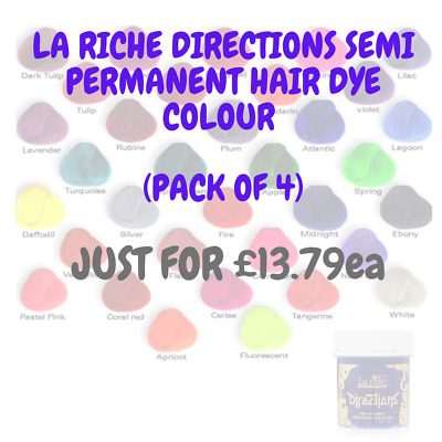 4 x LA RICHE DIRECTIONS HAIR DYE COLORS + CHEAPEST PRICE + SUPER FAST DELIVERY