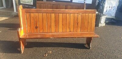 Pitch Pine Church Pew / Settle /  Bench With 1 End Del Avail