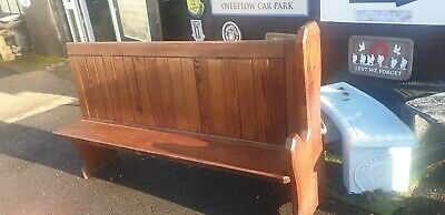 Pitch Pine Church Pew / Settle /  Bench With 1 End Del Avail (No2)