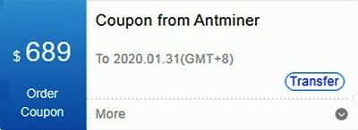 Bitmain Coupon USD $689 Quick Delivery (digital)