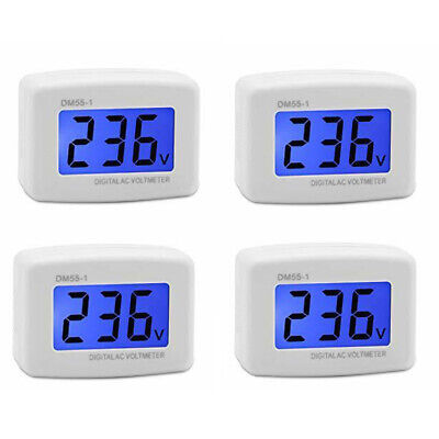 4pcs DM55-1 LCD Digital Volt Meter AC 80-300V US Plug Voltmeter Voltage F9P6