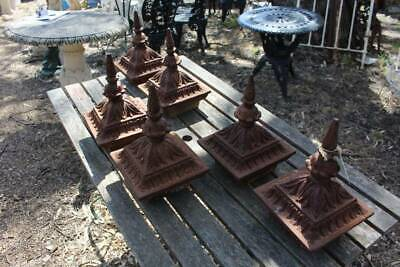 Antique Cast Iron Fence or Gate Post Finials - Price per Each - 6 Available