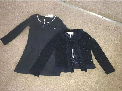 Le Chic Girls Designer Outfit Age 2-3/3-4 Dress And Jacket Christmas Outfit