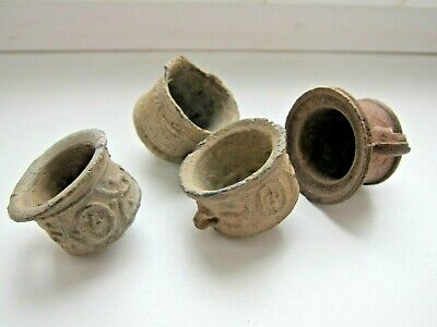 Ancient Oil Lamp 4 pieces