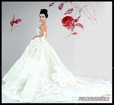 Brand new barbie doll clothes clothing outfit evening wedding dress Vogue gown