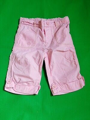 Girls 6 - 9 Months Pink Summer Cropped Trousers Excellent Condition Cherokee