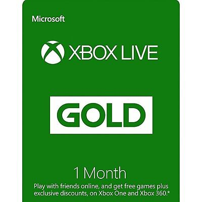 Xbox Live Gold 1 Month Keys (Xbox One/360) - Region Free - See Description