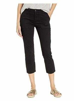 $205 Sanctuary Womens Black Stretch Mid-Rise Cropped Chino Casual Pants Size 27