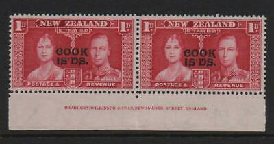 Cook Islands Stamps 1937  SG 72 Coronation Issue 1d  Carmine   Unmounted Mint
