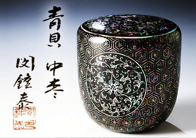 閔鍾泰monumental Laquer Mother-of-Pearl TEA CADDIE CHAIRE Natsume schrenckii jujube