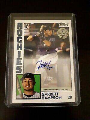 Garrett Hampson RC 2019 Topps Update '84 Auto Rockies