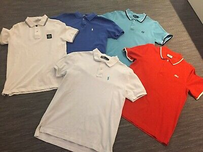 5No. Boys Polo Shirts Ralph/Lacoste/Stone Island/Fred Perry Small Mens