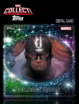 2019 ROYALTY BLACK BOLT Topps Marvel Collect Digital