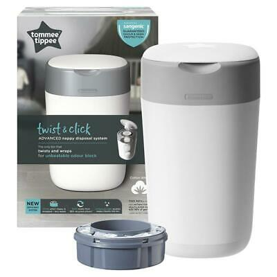 Tommee Tippee Twist & Click Advanced Nappy Disposal System Cotton White Onlin...