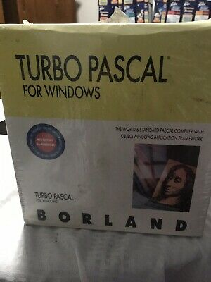 Vintage Turbo Pascal For windows 1.5 New