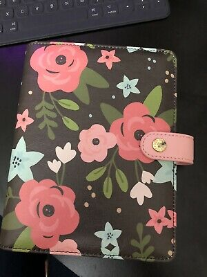 Simple Stories Carpe Diem Personal Planner Black Blossom Floral Binder