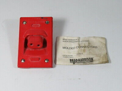 Brad Harrison 22903 DB 2P Angle Receptacle Red  NOP