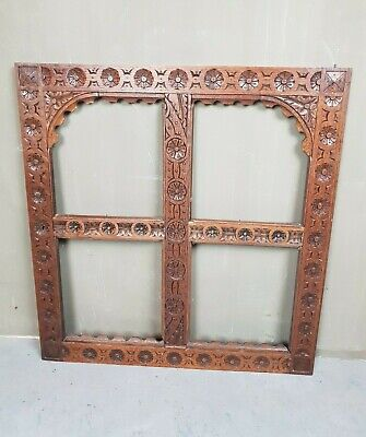 Antique Ornamental Handcarved Oak Reclaimed Cabinet Door Flower Decor E/0414