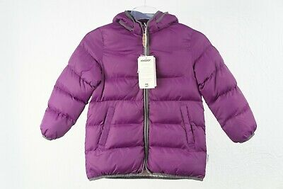 Racoon Kinder Mädchen Stepp Winter Kapuzen Jacke lila Ruby Bubble 122 #S01