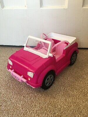 Barbie convertible pink car