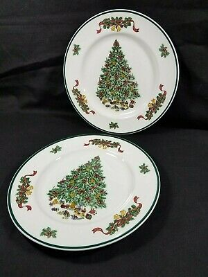 Johnson Bros China, Victorian Christmas Dinner Plate  Made in England Lot of 2