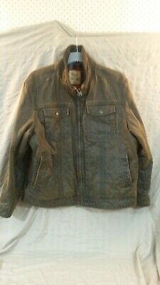 M&S North Coast Men's Leather Look Jacket. Size XXL. Used. Clean Condition.