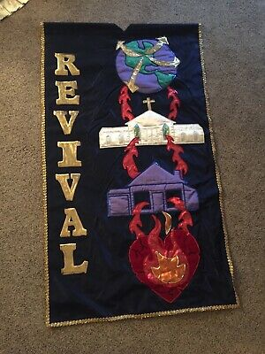 "Large Church Banner 40"" X 70"" (Revival)"