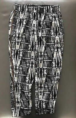 Girls Next Black & White Lightweight Trousers, Age 7 *Excellent Con*