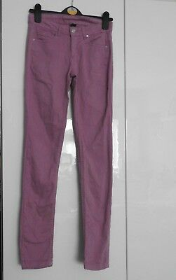 Zara Dusky Pink/Raspberry Trousers Size 11-12 Adjustable Waist Good Condition