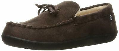 Isotoner Men'S Microsuede Moccasin Slipper With Cooling Memory Foam For Indoor/O