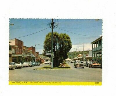 Australia Postcard, SAWTELL NSW,  Main St looking South