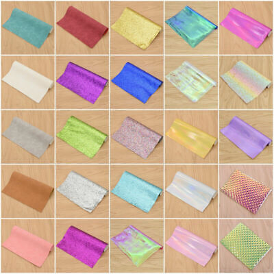 Faux Suede Leather PU Fabric glitter DIY Bag Wallet Making Sewing Hand Craft UK