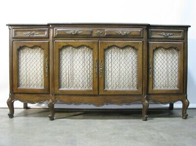 Vintage High-End French Provincial Style Walnut Buffet; Mint Condition (Baker)