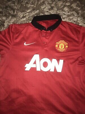 Manchester United Home Shirt 2013/14 Nike Adults Large Man Utd Football Top