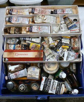 Vintage ArtBin by Vichek 8399 Artist's Paint Box Full of Oil Paints Oil Mediums