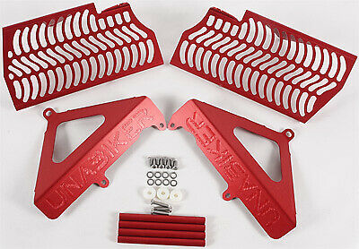 Unabiker Aluminum Front & Side Radiator Guards - Red HF540R4-R