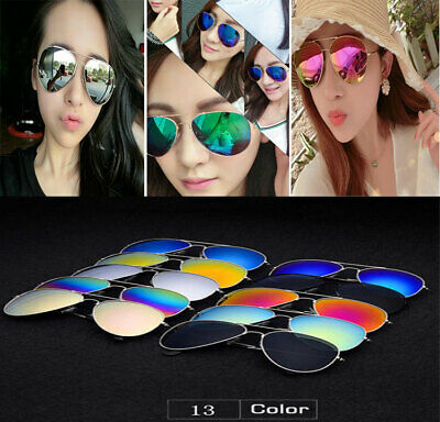 New Women Men Fashion Aviator Mirror Lens Sunglasses Vintage Retro Glasses TY