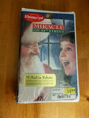 Miracle on 34th Street (VHS, 1995) sealed!