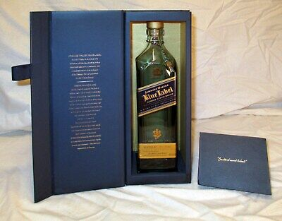 Johnnie Walker Blue Label Scotch Whisky Bottle With Gift Display Box