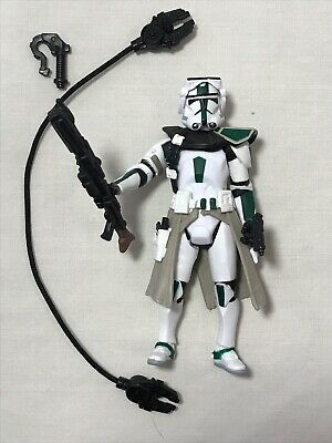 Star Wars Revenge Of The Sith Green Clone Commander Loose Complete Army Builder