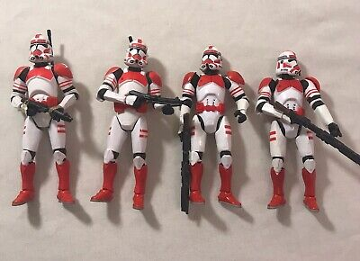 Star Wars Revenge Of The Sith Clone Shock Troopers Lot Of 4 TSC Army Builders