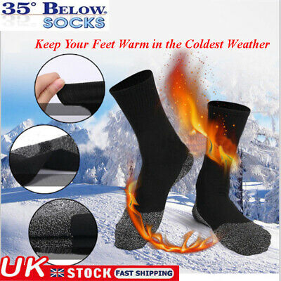 UK 1/3/5 Pair Mens Heavy Duty Winter Warm Thermal Work Cotton Wool Boots Socks