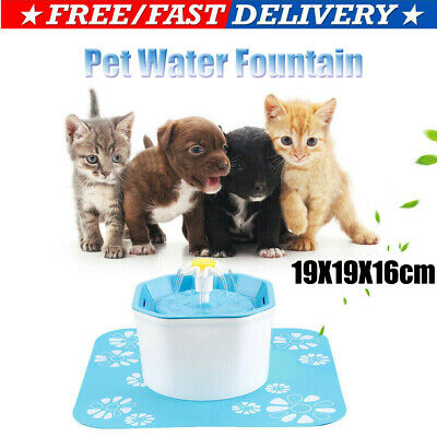 CA Pet Water Fountain For Cat Dog Automatic Water Drinking Bowl Dish Dispenser