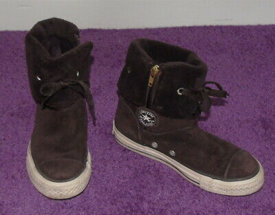 converse all star winter suede trainers/boots girls kids size uk 11.5